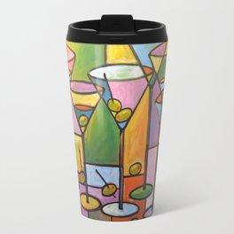 Abstract Art Wine Bar Alcohol Painting ... Martinis and Olives Travel Mug