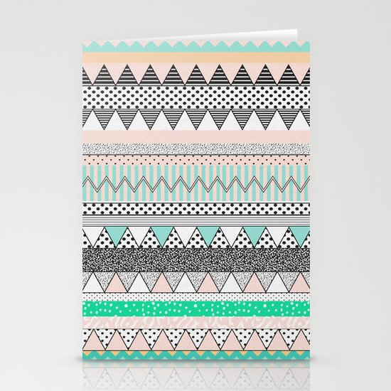 CHEVRON MOTIF Stationery Cards
