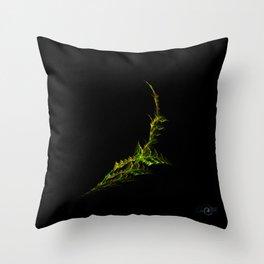 Fractal Fern Throw Pillow