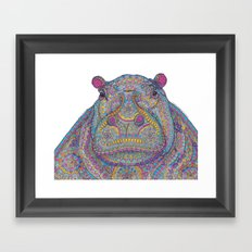 Hippie-Potamus (Multicolour) Framed Art Print