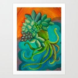Octopusucculent Art Print