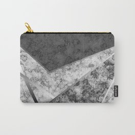 Combined abstract pattern in black and white . Carry-All Pouch