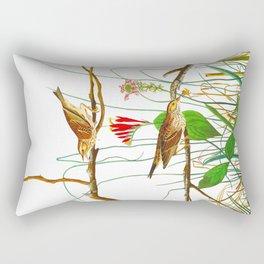 Savannah Finch Bird Rectangular Pillow