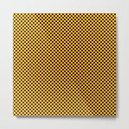 Gold Fusion and Black Polka Dots Metal Print
