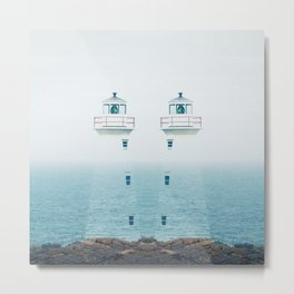 Lighthouse Twins Metal Print