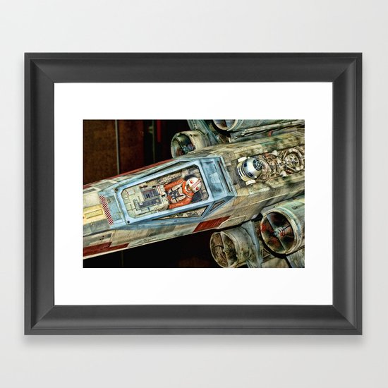 X-Wing Fighter Framed Art Print