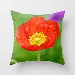 Bold Poppy Throw Pillow