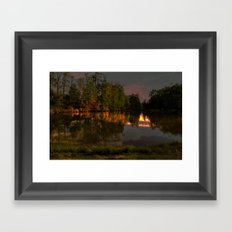 Glimmering Pond Framed Art Print