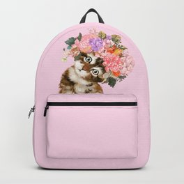 Baby Cat with Flower Crown Backpack