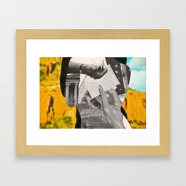 Letters: Silhouette Series #7 Framed Art Print