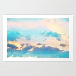 Unicorn Pastel Clouds #4 #decor #art #society6 Art Print
