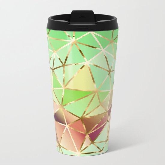 Rainbow Geometric Pattern #1 Metal Travel Mug