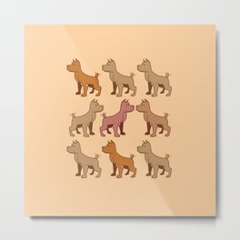 Nine dogs  Metal Print