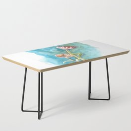 Blooms on Turquoise Coffee Table