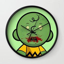 Zombie Charlie Brown Wall Clock