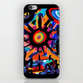 Black Sun is shining Abstract Art Street Graffiti iPhone Skin