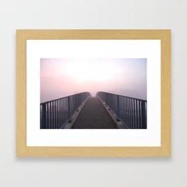 Foggy bridge Framed Art Print