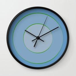 Blue hypnotism Wall Clock