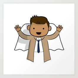 Castiel - Supernatural Art Print