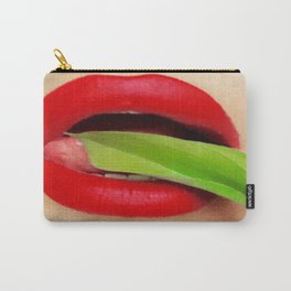 Ruby Ruby Pouty Lips Carry-All Pouch