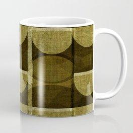 """Retro Olive green Chained Circles"" Coffee Mug"