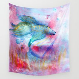 Iridescent Abstract Betta Wall Tapestry