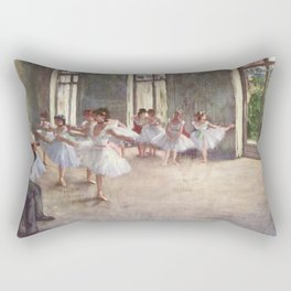 Ballet Rehearsal 1873 By Edgar Degas | Reproduction | Famous French Painter Rectangular Pillow