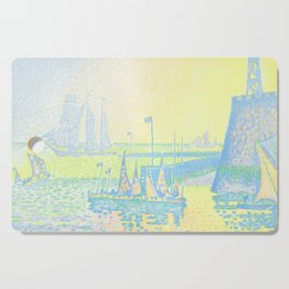 "Paul Signac ""Evening (The Jetty of Vlissingen) (Abend-La jetée de Flessingue)"" from the journal Pan Cutting Board"