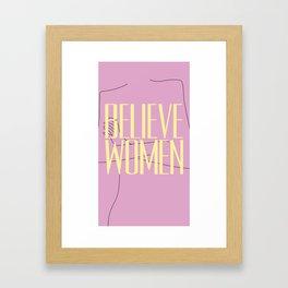 Believe Women Framed Art Print