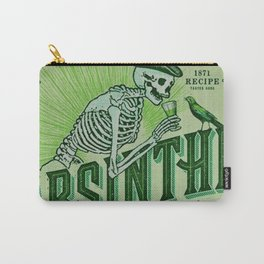 Vintage 1871 Absinthe Liquor Skeleton Elixir Aperitif Cocktail Alcohol Advertisement Poster Carry-All Pouch