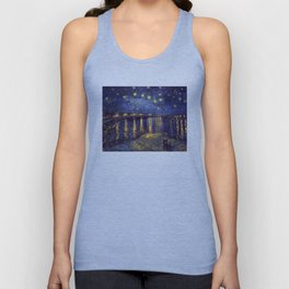 Vincent Van Gogh Starry Night Over The Rhone Unisex Tank Top