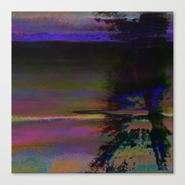 19-46-12 (Black Hole Glitch) Canvas Print