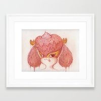 buffy Framed Art Prints featuring Melted Buffy by MissyandFriends