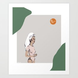 Tanned in Italy Art Print