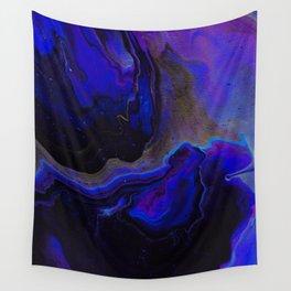 Dark Purple Blue Galaxy - Midnight Shades Wall Tapestry