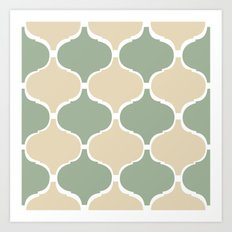 MARRAKECH Sand Green Art Print