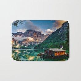 Pragser Wildsee or Lake Prags Italy Bath Mat