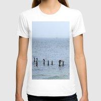 cape cod T-shirts featuring Gull's Perch, Cape Cod by JezRebelle