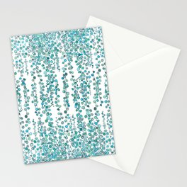 string of pearl watercolor Stationery Cards