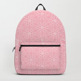 Millennial Pink Daisy Graphic Design Pattern Backpack