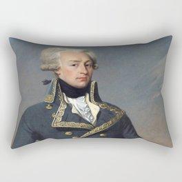 Portrait of Lafayette by Joseph désiré Court Rectangular Pillow