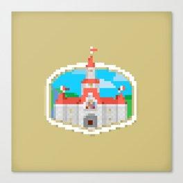 8 Bit Castle Canvas Print