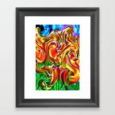 Twisted Tulips Framed Art Print