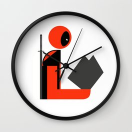 Dead Gentleman Reads Wall Clock