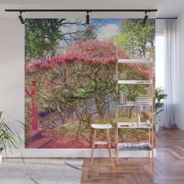 Japanese Garden And Pond Wall Mural