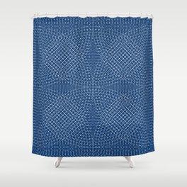 Komon circular pattern Shower Curtain