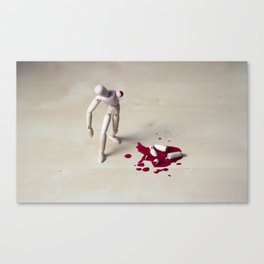 hurting woody man Canvas Print