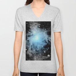 Orion nebULa Black White Blue Space Unisex V-Neck