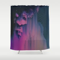 fringe Shower Curtains featuring Pink Fringe by DuckyB