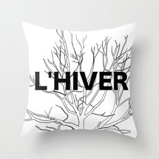 L'HIVER Throw Pillow